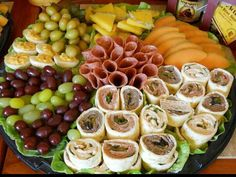 Love the setup of this appetizer platter!