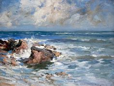Rocky Shore de William Bradley Lamond (1857-1924, United Kingdom)
