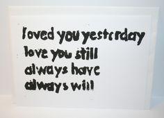 """Karte """"I Love you"""" // postcard by papelami via DaWanda.com"""