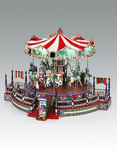 christmas animated carousels music boxes and carnival rides - Christmas Carousel Decoration