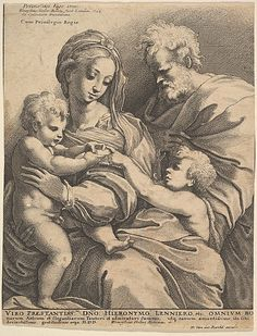 The Holy Family with John the Baptist (1642); Wenceslaus Hollar (Wenzel Vaclav) (Bohemian, 1607–1677) after Perino del Vaga (Pietro Buonaccorsi) (Italian, 1501–1547); Etching; Metropolitan Museum of Art, New York