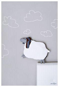 WILBUR l'aviateur, moutons, agneau, mouton peluche de milipa sur DaWanda.com