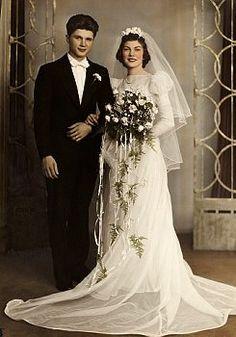 1939 Wedding Vintage  wedding dress,