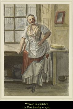 1750s Sandby-Woman in a Kitchen-Stays Showing