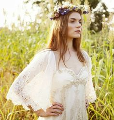 Cotton Eyelet Lace Dress by Claire la Faye