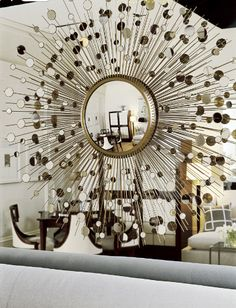 Thomas Pheasant - mirror on mirror What Is Interior Design, Decor Interior Design, Interior Decorating, Starburst Mirror, Home Decor Trends, Simple House, Home And Living, Home Improvement, Sweet Home