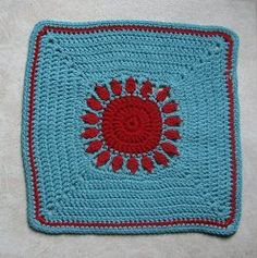This pretty little #afghan square will bring a burst of sunshine to any room of your house.