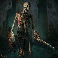 ArtStation - Skeleton Warrior, Markus Neidel