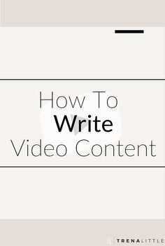 How to write a script for your video blog!  Writing a blog post can be hard enough, so todays video is all about how to make a video with your blog content!