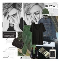 """""""Right here (Taemin)"""" by ani-onni ❤ liked on Polyvore featuring R13, OBEY Clothing, Alexander Wang, Taylor of Old Bond Street, romwe and taemin"""