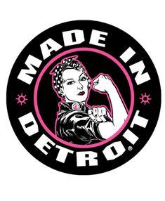 Rosie the Riveter Sticker - Pink www.michigansocialmarketing.com #detroit #pride
