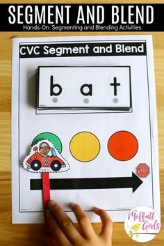 How to Teach the Alphabet Segment and Blend CVC Words- Teach letter recognition and letter formation, and move to reading with this fun phonics activity! Fun for Preschool and Kindergarten! Fun Phonics Activities, Alphabet Activities, Phonemic Awareness Activities, Physical Activities, Letter Sound Activities, Word Family Activities, Teaching The Alphabet, Teaching Phonics, Preschool Phonics