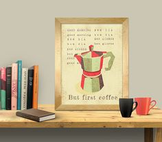 Check out Instant DOWNLOAD -  but first coffee- coffee lovers art print, coffee art print on mmaiaartdesign