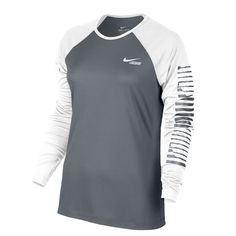 cheap for discount b8cf8 24bd0 Practice for perfection on the field in the Nike® Women s Lacrosse Graphic  Long Sleeve Shirt