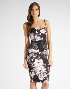 Lipsy Floral Sweetheart Neck Dress £55