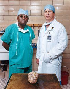 From left, Bennet Omalu, the pathologist; and Julian Bailes, the neurosurgeon. (Photo: Mark Heithoff)