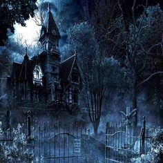 GladsBuy Spooky House x Computer Printed Photography Backdrop Outdoor Architectural Theme Background Spooky Places, Haunted Places, Halloween Backgrounds, Halloween Wallpaper, Creepy Old Houses, Goth Wallpaper, Wallpaper Desktop, Spooky House, Gothic Horror