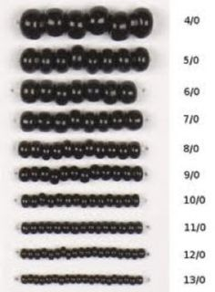 this handy Seed Bead Sizing Guide in conjunction with our Thread Reference Guide. Global Beads, Inc.Use this handy Seed Bead Sizing Guide in conjunction with our Thread Reference Guide. Global Beads, Inc. Seed Bead Tutorials, Seed Bead Patterns, Beaded Jewelry Patterns, Jewelry Making Tutorials, Beading Tutorials, Beading Patterns, Bracelet Patterns, Embroidery Patterns, Seed Bead Projects