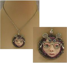 Whimsical Face w/ Glasses Necklace Jewelry Handmade NEW Polymer Clay Accessories #handmade #Pendant http://www.ebay.com/itm/Whimsical-Face-w-Glasses-Necklace-Jewelry-Handmade-NEW-Polymer-Clay-Accessories-/161449568678?