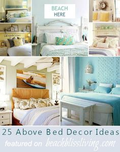 Above Bed Decor with a Beach Theme