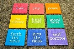 Fruit of the Spirit canvases