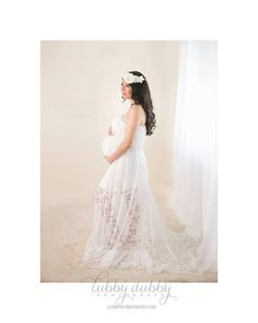 Lace Maternity Gown / Stacey Gown / by SewTrendyAccessories