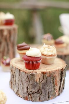 Cupcakes | Photography: Cara Leonard Photography  | Read More: http://stylemepretty.com/2013/08/30/rustic-dinner-party-from-cara-leonard
