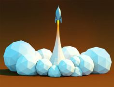 C4D-file-in-attachment---Rocket-Lift-off