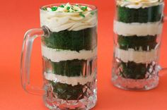 Green Velvet Guinness Cupcakes with Baileys Buttercream | Brit + Co.