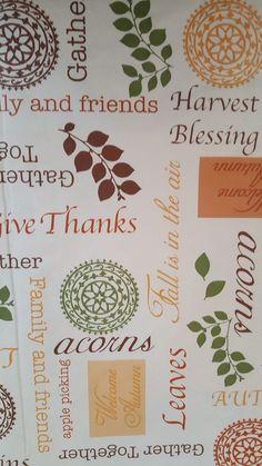 Gentil Thanksgiving Autumn Harvest Vinyl Tablecloth 52x90 Flannel Back #Nantucket