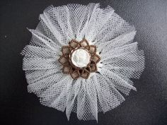 Tutorial for easy tulle flower