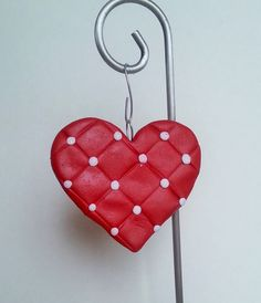 Hey, I found this really awesome Etsy listing at https://www.etsy.com/listing/253780185/handcrafted-polymer-clay-red-heart