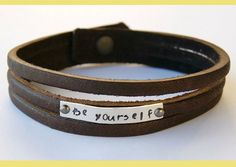 Homemade Valentine's Day Gift Ideas - Creative Ideas for Custom DIY Handmade Gifts - Handmade Leather Bracelet Tutorial