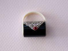 Lea Stein handbag brooch
