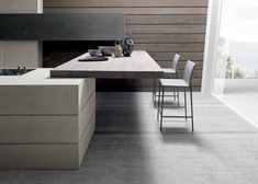 Furniture. Excellent Design Ideas Of Modern Kitchen Breakfast Bars. Fascinating Kitchen Breakfast Bar features Rectangle Shape Mounted Breakfast Bar Table and White Metal Stools