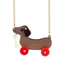 Dog on Wheels Necklace