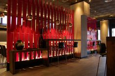 """Spains Restaurant Interior Design - Francisco Silván,  for people asian,  """"Tony's"""", in Madrid. 2012.  Bottom-lit screen"""