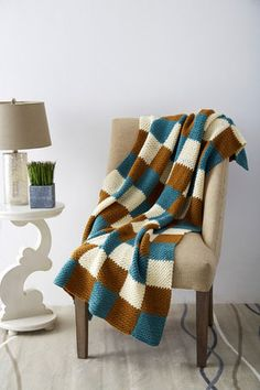 Patons® Décor™ Patchwork Crochet Blanket