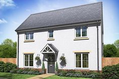 new build 3 bed semi houses exterior - Google Search New Builds, Building A House, Garage Doors, Exterior, Houses, 3d, Google Search, Outdoor Decor, Modern