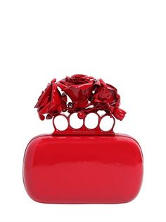 Alexander Mcqueen Roses Ornament Knuckle Box Clutch #bags
