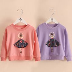 Spring Autumn Unique Dance Princess Sweat Girls T Shirts Long Sleeves for Kids Clothes Baby Tops Pullovers 2018 T1/6012DBO //Price: $20.58 //     ##babyfashion