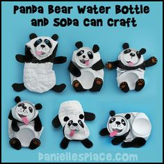 Panda Bear Craft Water Bottle and Soda Can Recycle Craft from www.daniellesplace.com (Bottle Lights For Kids)