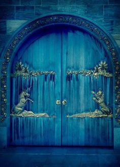 Unicorn and Lion Door.