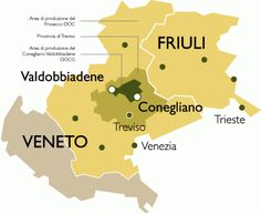 Prosecco is only Prosecco if it is produced in a delimited area of north-east Italy which comprises nine Provinces across the regions of Friuli, Venezia, Giulia and the Veneto. Prosecco Van, Wine Cheese Pairing, Wine Vine, Italy Holidays, Sweet Wine, Types Of Wine, German Beer, In Vino Veritas, Italian Wine