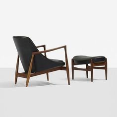 Ib Kofod-Larsen Elisabeth easy chair and ottoman, 1956 for OPE Möbler, Sweden. / Wright