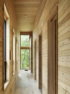 Corridor in SHIFT Cottage by Superkül Architect
