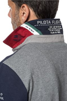 AERONAUTICA MILITARE POLO M.L. - MEN Tribal Fashion, Sport Fashion, Mens Fashion, Polo Tees, Polo Shirt, Collar Shirts, Tee Shirts, Surf Wear, Men Street