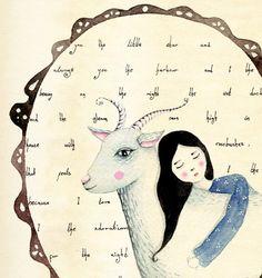 Siempre un soñador  impresión del arte por LilyMoon en Etsy
