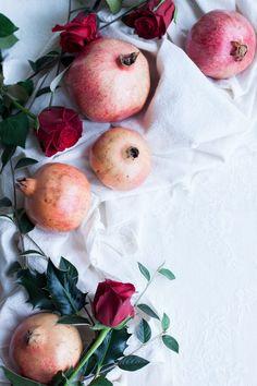 Vegan Red Kuri Squash with Pomegranates, Sumac and Greens The Little Plantation Blog