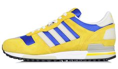 adidas Originals is gearing up to kick off 2013 with a blue and yellow colorway of the ZX The suede and mesh built kicks will be available at shops th Running Sneakers, Running Shoes, Adidas Sneakers, Adidas Zx 700, Adidas Tubular Nova, Blue Yellow, Adidas Originals, Bliss, Watches For Men